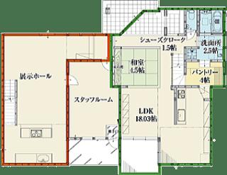 港北インター住宅公園テクノストラクチャー1階間取り