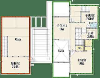 港北インター住宅公園テクノストラクチャー2階間取り
